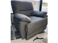 Grey fabric Recliner (New) LAST TWO REMAINING