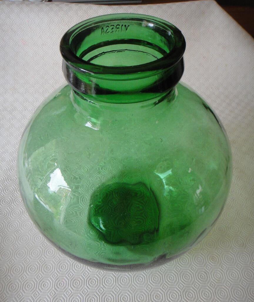 Italian Viresa Carboy Demijohn Bottle Garden Green Glass