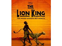 5x Tickets to see The Lion King @Lyceum Theatre, on the 27th, April @7:30pm,Stalls seat ,T row