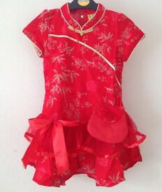 New Chinese Dress with Shoulder Bag 6y or 6-7y
