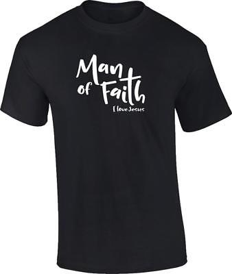 Christian Man of Faith I Love Jesus T-Shirt Tee