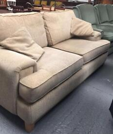 ** LARGE OATMEAL 2 SEATER SETTEE ONLY £75 **