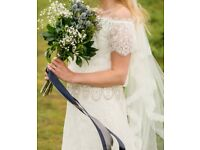 Rembo Styling Lace Wedding Dress Vintage 10/12