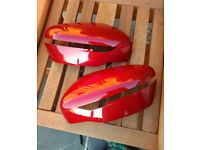 Nissan X-Trail Door / Wing Mirror Covers in Red and Silver