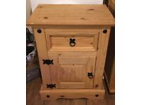 Mexican pine bedside unit