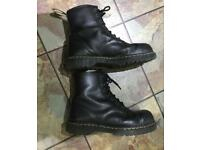 Dr Martens size 10 black leather steel toe boots