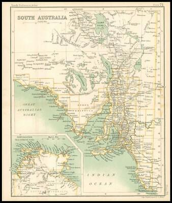 c1912 Map of SOUTH AUSTRALIA Chart Regions (BS77)