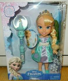 Disney Princess Frozen Elsa Toddler Doll with Musical Snow Wand. Brand New