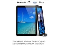 Brand new 7inch quad core tablet with wifi and dual camera