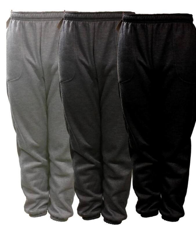 New Mens Plain Fleece Jogger Drawstring Sweat Pants S M L Xl 2xl 3xl 4xl 5xl