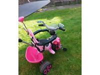 Pink girls Avigo Body Trike Good Condition