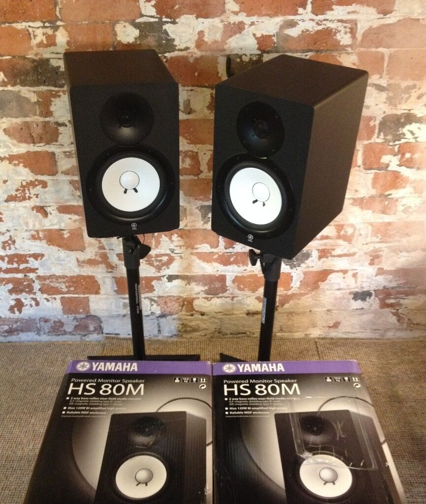 yamaha hs5 pair. YAMAHA HS80M Studio Monitors (Pair) With Stands, Boxes, Cables. HS80 HS8 Yamaha Hs5 Pair
