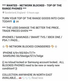 ☆ WANTED- TOP OF THE RANGE PHONES ☆