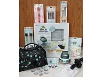 Making Memories Slice cordless design cutter, Hands Free Kit, Design cards and lots of accessories