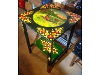 Hand Painted Table depicting pheasant