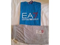 New EA7 armani regular t-shirt & short - new with tag - colour: blue & grey - size: XXL