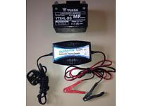 Motorcycle battery & Charger new