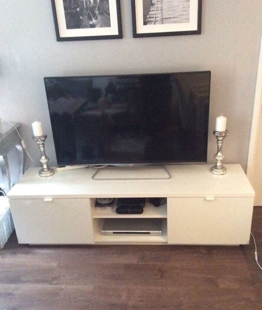 Ikea byas tv bench storage unit table with drawers - Ikea table tv ...