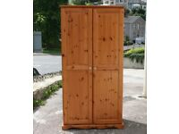 Solid Pine Wardrobe With Top Box