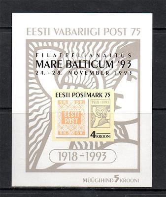 ESTONIA MNH 1993 MS227 MARE BALTICUM STAMP EXHB