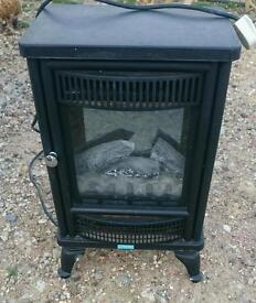 Traditional fake log stove electric fire
