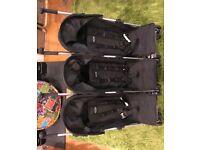 Obaby triple stroller black