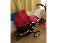 mothercare pushchair with rain cover
