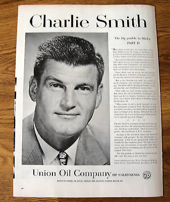 1958 Union Oil 76 Ad  Charlie Smith Alaska Part II
