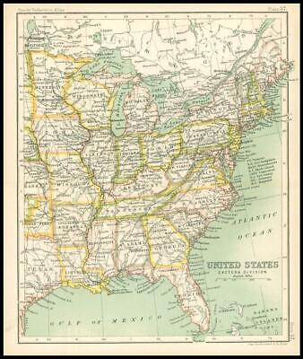 c1912 Map of the UNITED STATES Eastern Division Chart Regions (BS62)