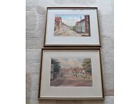 Two 1950's Original Watercolours by Jack Savage. Views of Lavenham in Suffolk
