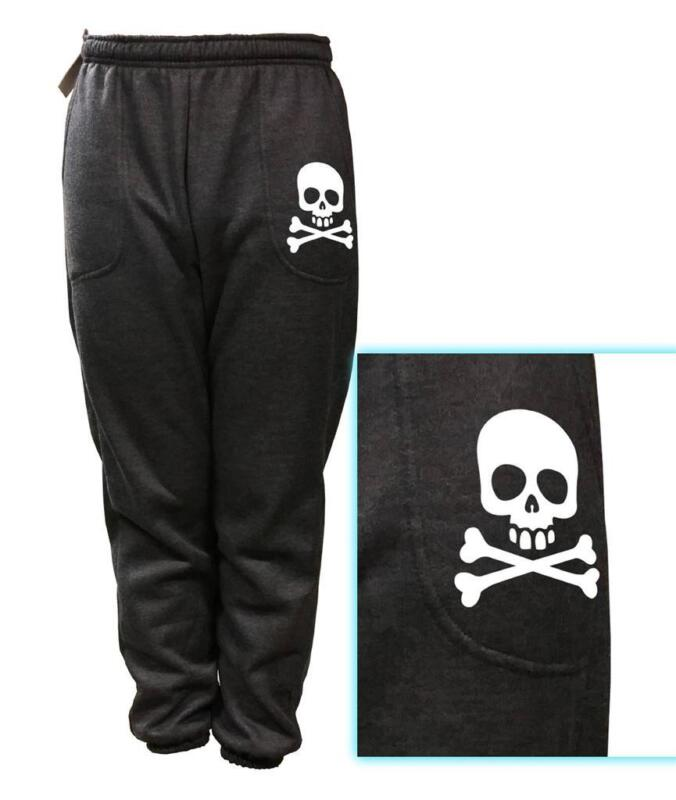 New Mens Printed Skull Mma Funny Fleece Jogger Drawstring Sweat Pants S~5xl
