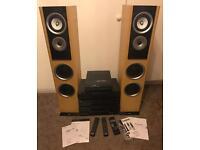 HIFI system, speakers, CD player, Mini disc recorder, Amplifier, Mini vinyl player