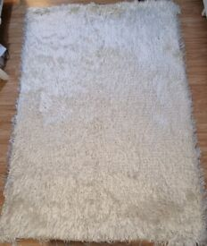 Rug Cream with Gold Metallic Threads - Sparkle Rug by Julien Macdonald 230 x 160cm RRP £135