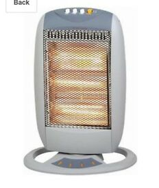 1200W 3 Heating Power Halogen Heater Plastic Body
