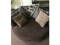 Cuddler rotating Sofa