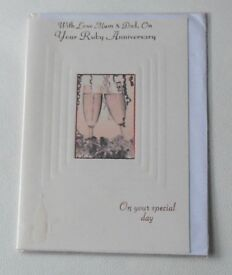 Ruby Wedding Anniversary - Medium Cards