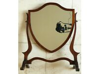 Antique Edwardian frame dressing table swing mirror in mahogany