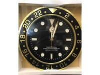 Rolex Style Wall Clock (New)