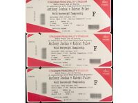*3 Anthony Joshua Floor Tickets- Less Than FV- 3 for £250
