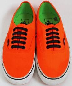 Ladies Size 6 Orange Vans Trainers