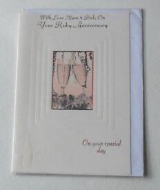 Ruby Wedding Anniversary Cards - Medium
