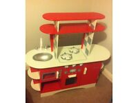 Retro wooden play kitchen