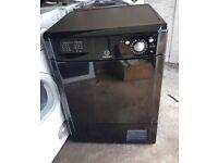 FREE DELIVERY Black Indesit large 8KG condenser tumble dryer WARRANTY