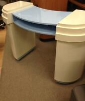 Nail tables blue & white blow out sale