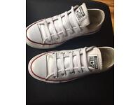 Genuine leather white converse shoes