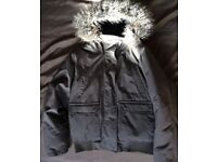 BRAND NEW Waterproof Insulated Padded Winter Parka Coat With Faux Fur Hood (Like Superdry)