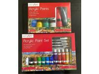 2 x Art paint Sets NEW unopened 2 Sets for £10