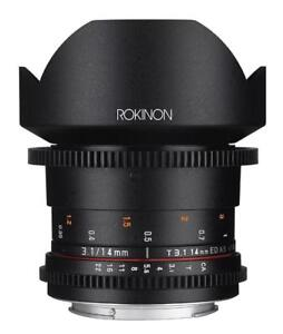 NEW Rokinon DS14M-NEX Cine DS 14mm T3.1 ED AS IF UMC Full Frame Cine Wide Angle Lens
