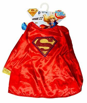 Supergirl Costume Size 6 (DC Super Hero Girls Size 4-6 Supergirl Cape & Skirt Costume)