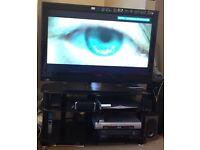 "****Philips 42 "" TV & Glass cabnet ***"